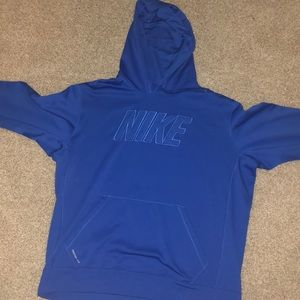 It's an all blue Nike sweatshirt (hoodie)